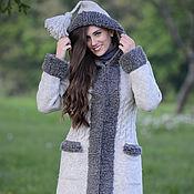 Одежда ручной работы. Ярмарка Мастеров - ручная работа Пальто вязаное 16wj13. Handmade.