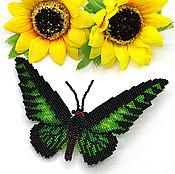 Украшения ручной работы. Ярмарка Мастеров - ручная работа Брошь Бабочка зеленая. Handmade.