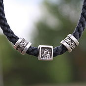 Украшения handmade. Livemaster - original item Orthodox bracelet with silver beads. Handmade.