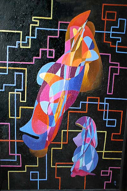 Абстракция ручной работы. Ярмарка Мастеров - ручная работа. Купить История Любви. Handmade. Любовь, женщина, мужчина, линии, грусть