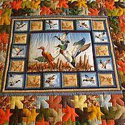 """Для дома и интерьера ручной работы. Ярмарка Мастеров - ручная работа Одеяло """"А утки уже летят высоко..."""". Handmade."""