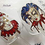 Посуда handmade. Livemaster - original item Wine glasses Venetian. Handmade.