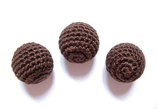 Для украшений ручной работы. Ярмарка Мастеров - ручная работа. Купить Набор из 10 бусин, цв. шоколадный. Handmade.