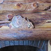 Для дома и интерьера ручной работы. Ярмарка Мастеров - ручная работа Часы каминные с термометром. Handmade.