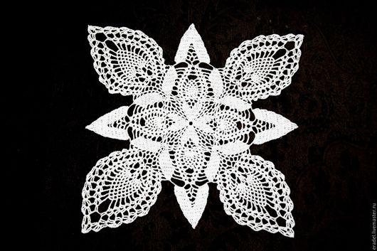 """Текстиль, ковры ручной работы. Ярмарка Мастеров - ручная работа. Купить Салфетка """"Роза ветров"""". Handmade. Белый, вязаная салфетка"""