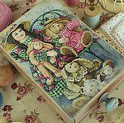 """Для дома и интерьера ручной работы. Ярмарка Мастеров - ручная работа Короб для рукоделия """"Toys"""". Handmade."""