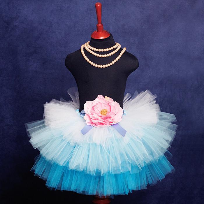 """Купить """"Мечты Принцессы"""" голубая юбка-пачка из фатина - юбка, юбка-пачка, нарядная юбка"""
