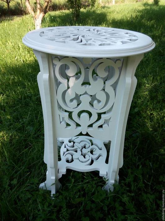 Мебель ручной работы. Ярмарка Мастеров - ручная работа. Купить Столик кофейный резной. Handmade. Комбинированный, резной столик