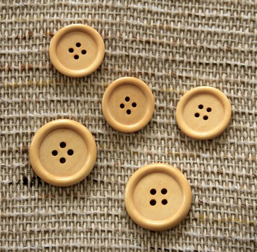 """Шитье ручной работы. Ярмарка Мастеров - ручная работа. Купить Пуговица деревянная """" Круг"""" натуральное  дерево. Handmade. Бежевый"""