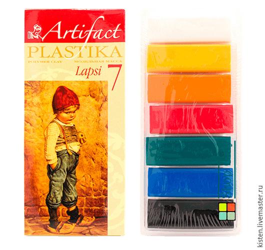 Полимерная глина Артефакт. Набор пластики Lapsi 7