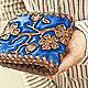 Wallet leather 'Sakura 2' Blue, Wallets, Krasnodar,  Фото №1