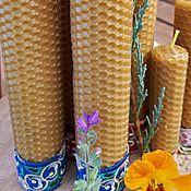 """Фен-шуй и эзотерика handmade. Livemaster - original item Свеча """"Мир и Благополучие в доме"""",восковая  на травах ручной работы.. Handmade."""