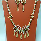 Украшения handmade. Livemaster - original item The set of natural pearls in the Oriental style Rusalkina tears.. Handmade.