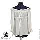 Блузки ручной работы. Ярмарка Мастеров - ручная работа. Купить Блуза белая шёлковая, блузка летняя, блузка нарядная. Handmade.