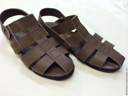 Обувь ручной работы. Ярмарка Мастеров - ручная работа. Купить Кожаные сандалии женские. Handmade. Коричневый, кожаные сандалии
