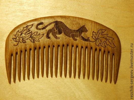 """Гребни, расчески ручной работы. Ярмарка Мастеров - ручная работа. Купить деревянный гребень """"Кошка"""". Handmade. Гребень для волос, гребешок"""