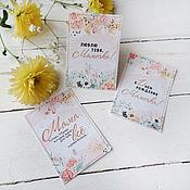 Открытки handmade. Livemaster - original item Mini postcards. Bouquet cards for mom. Handmade.