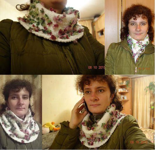 Шарфы и шарфики ручной работы. Ярмарка Мастеров - ручная работа. Купить Снуд-шарф. Handmade. Разноцветный, снуд вязаный