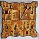 египет, Египетский, фараон, рыжий,песочный, оранжевый,охра,часы настенные,часы декупаж