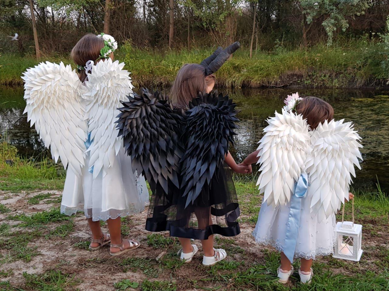 Черные крылья. Крылья ангела.Крылья из изолона.Крылья для фотосессии, Аксессуары для фотосессии, Ростов-на-Дону,  Фото №1