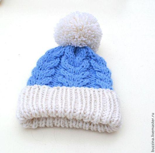 Шапка, шапка с помпоном, шапка для мальчика, шапка для мальчика с помпоном, шапка для новорожденного, немели лук, family look, одинаковая одежда, одинаковые шапочки, шапка на выписку, теплая шапка.