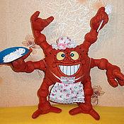 """Куклы и игрушки ручной работы. Ярмарка Мастеров - ручная работа Детская текстильная игрушка """"Железная няня"""" из Смешариков. Handmade."""