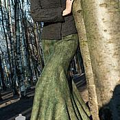 "Одежда ручной работы. Ярмарка Мастеров - ручная работа валяная юбка ""осенняя прогулка"". Handmade."