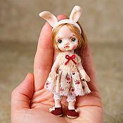 Куклы и игрушки handmade. Livemaster - original item Author`s miniature doll 9cm, for a Dollhouse.. Handmade.