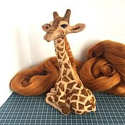 Мягкие игрушки ручной работы. Ярмарка Мастеров - ручная работа Жираф Багир. Handmade.