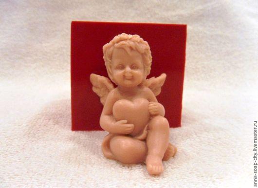 """Другие виды рукоделия ручной работы. Ярмарка Мастеров - ручная работа. Купить Силиконовая форма для мыла """"Ангел с сердцем"""". Handmade."""