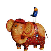 Мини фигурки и статуэтки ручной работы. Ярмарка Мастеров - ручная работа Мини фигурки и статуэтки: Я и мой слон .. Handmade.