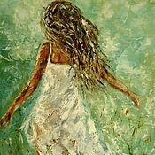 Картины и панно handmade. Livemaster - original item Oil painting a cloud of Air.. Handmade.