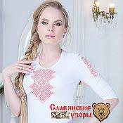 Одежда handmade. Livemaster - original item T-shirt with embroidery