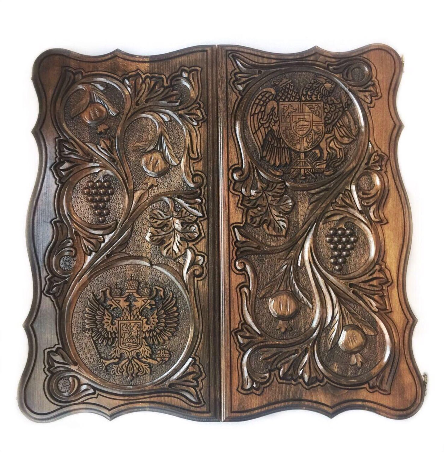 Backgammon carved 'coats of Arms' Art. .017, Backgammon checkers, Moscow,  Фото №1