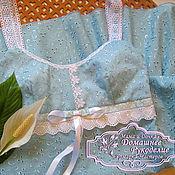 Одежда ручной работы. Ярмарка Мастеров - ручная работа Летнее платье - сарафан на бретельках Подснежник. Handmade.
