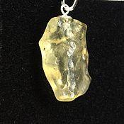 Фен-шуй и эзотерика handmade. Livemaster - original item Libyan Gold Tektite pendant, silver. Handmade.