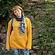 Кофты и свитера ручной работы. Ярмарка Мастеров - ручная работа. Купить туника Золотой дракон взаная женская авторская. Handmade.