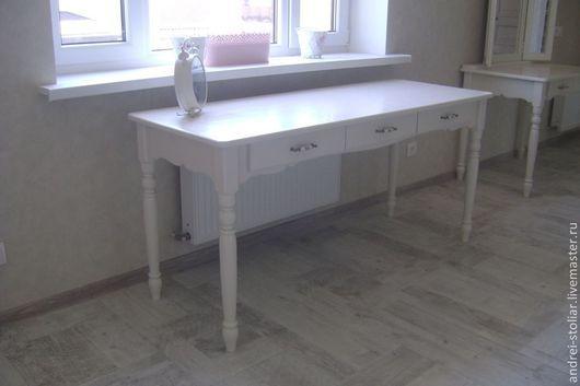 Мебель ручной работы. Ярмарка Мастеров - ручная работа. Купить Деревянный письменный стол (004). Handmade. Белый, стол из бука