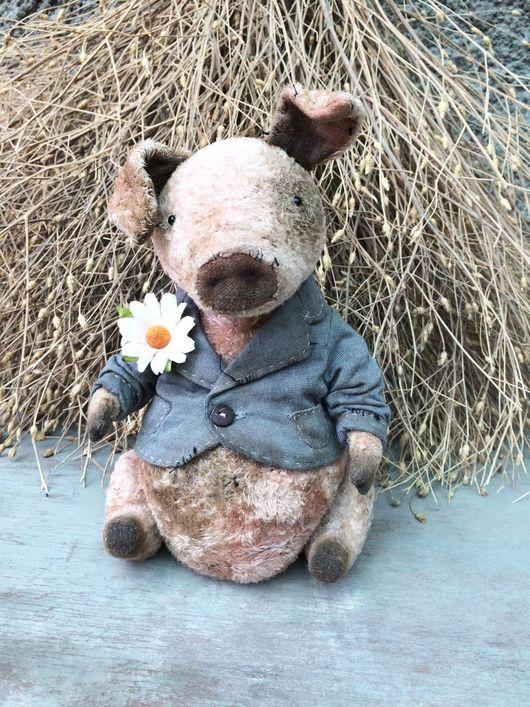 Мишки Тедди ручной работы. Ярмарка Мастеров - ручная работа. Купить Свин. Handmade. Свин, винтажный плюш