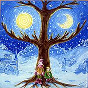 Картины и панно ручной работы. Ярмарка Мастеров - ручная работа Картина Два мира. Handmade.