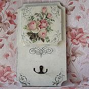 Для дома и интерьера handmade. Livemaster - original item Key holder shabby chic Pink. Handmade.