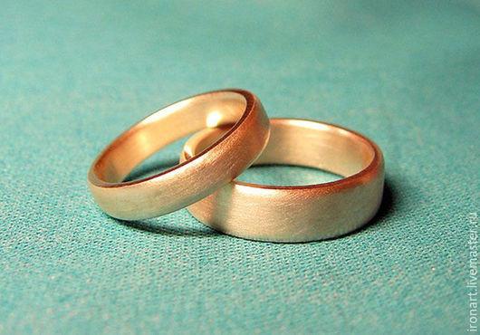 Свадебные украшения ручной работы. Ярмарка Мастеров - ручная работа. Купить Обручальные кольца Бочки из золота 585 пробы на заказ. Handmade.