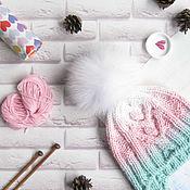 Работы для детей, handmade. Livemaster - original item Winter cap for girls