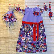 Работы для детей, ручной работы. Ярмарка Мастеров - ручная работа Нарядное летнее платье для девочки. Handmade.