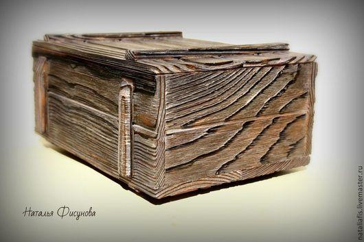 шкатулка короб деревянный брашированный брашировка кухня дача