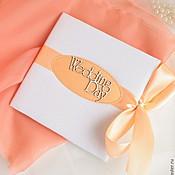 """Свадебный салон ручной работы. Ярмарка Мастеров - ручная работа Коробочка для диска """"Персик"""". Handmade."""