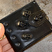 Wallets handmade. Livemaster - original item Gift to man . Leather purse with skulls. Purse leather.. Handmade.