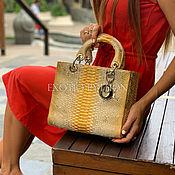 Сумки и аксессуары handmade. Livemaster - original item Stylish bag made from Python. Handmade.