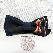 Аксессуары handmade. Livemaster - original item bow tie chess/ rook/ queen/ chessmen/ intelligence/ ig. Handmade.