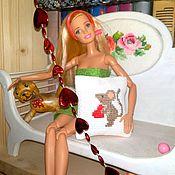 handmade. Livemaster - original item Pillow with mouse for dolls. Handmade.